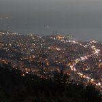 Bejrut wieczorem - widok z Góry Harisa